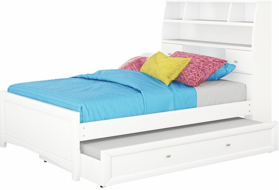 Girls Trundle Beds Storage Underneath, White Trundle Bed Queen